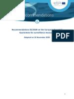 edpb_recommendations_202002_europeanessentialguaranteessurveillance_en