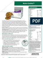 NUTRA-COOKIE SELL SHEET