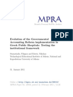Evolution of the Governmental Accounting Reform implementation in Greek Public Hospitals