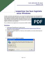 32_astuce 25 - detecter et supprimer les faux logiciels sous windows