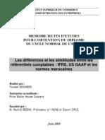 Les différences et les similitudes entre les référentiels comptables  normes marocaines , IAS , U
