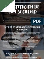 CONSTITUCION DE UNA SOCIEDAD
