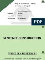 9. Lecture 9 Sentence Construction Part 1 Slides