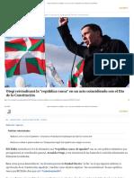 Otegi reivindicará la _república vasca_ en un acto coincidiendo con el Día de la Constitución