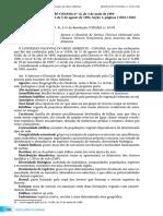 Resol. Conama 12-94 Glossário da Mata Atlântica