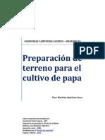 Preparacion de terreno para el cultivo de papa