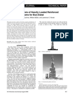 Design and Analysis of Heavily Loaded Reinforced Concrete Link Beams for Burj Dubai