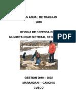 PLAN ANUAL DE TRABAJO DEL GRUPO DE TRABAJO EN GESTION DEL RIESGO DE DESASTRES