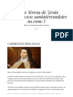 Carmelitas Descalzas – Santa Teresa de Jesús
