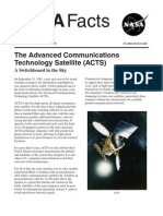 NASA Facts the Advanced Communications Technology Satellite (ACTS) a Switchboard in the Sky