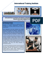 Course Outline -IMPLEMENTING ELECTRONIC DOCUMENTS AND  RECORDS MANAGEMENT One Week -2011