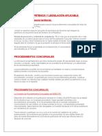 REGLAS DE COMPETENCIA Y LEGISLACIÓN APLICABLE.docx