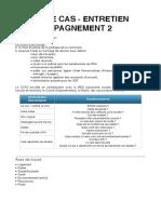ÉTUDE DE CAS - ENTRETIEN D'ACCOMPAGNEMENT 2