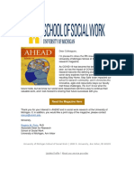 AHEAD Social Work Research at the University of Michigan