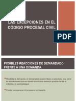 Las excepciones y DEFENSA PREVIA TRAMITE CPC.ppt