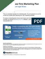 Non-profit law firm marketing plan