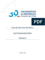 Electromagnetismo Guía de Ejercicios Resueltos Módulo 2 - Universidad La República Chile.