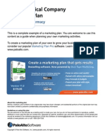 Pharmaceutical company marketing plan