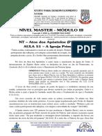 MASTER 2020 - MÓD III - AULA 51 - NT Atos dos Apóstolos - A Igreja Primitiva.pdf