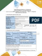 Guía de Actividades y Rúbrica de Evaluación- Fase 5 - Proponer alternativas de solución