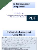 Théorie des Langages et Compilation - Leila Ben Ayed