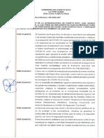 Orden ejecutiva de diciembre de 2020 para intentar frenar el COVID-19