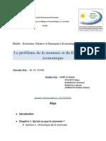 T 3 Le Probleme de la monnaie et du financement économique;docx