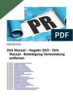 Dirk Massat – Negativ SEO - Dirk Massat - Beleidigung Verleumdung Entfernen
