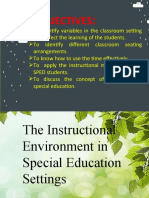 10.) Instructional Environment