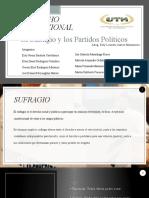 SUFRAGIO Y PARTIDOS POLITICOS