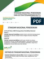 Standar Nasional Pendidikan & Sistem Penjaminan Mutu Pendidikan