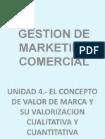 UNIDAD 4.- CONCEPTO DE VALOR DE MARCA Y SU VALORIZACION CUALITATIVA Y CUANTITATIVA