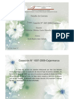 Resumen de Casación N° 1697-2009 Cajamarca