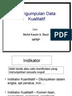 Pengumpulan data Kualitatif