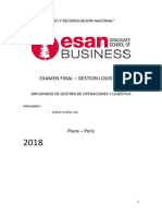 Examen final-Gestion Logistica