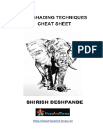 Pen Shading Techniques Cheat Sheet - Shirish Deshpande