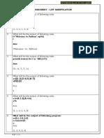 Worksheet - List