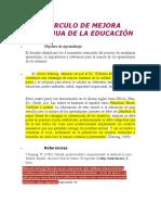 CÍRCULO DE MEJORA CONTINUA DE LA EDUCACIÓN
