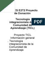 De TIES E2T2 Proyecto de Donación
