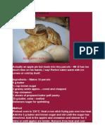 Apple Pie Parcels Recepie