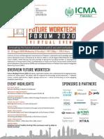 Future Worktech Forum 2020  19-20 August, 2020  Virtual Event