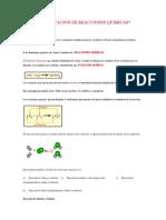 CLASIFICACION DE REACCIONES QUIMICAS