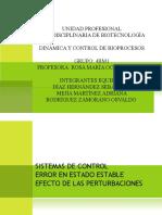 Exposicion dinamica y control de bioprocesos