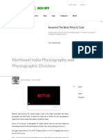 Northeast India Physiography and Physiographic Divisions