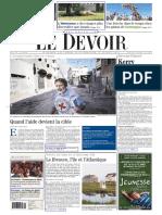 Le Devoir du 26 Juillet 2014