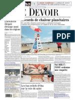 Le Devoir 22 23 Juillet 2014
