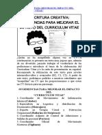 SUGERENCIAS PARA MEJORAR EL IMPACTO DEL