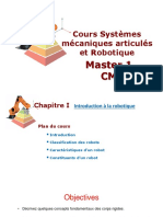 Chapitre I Systèmes mécanique articulés et Robotique Introduction_Boutaani 2020