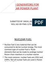 STEAM GENERATORS FOR NUCLEAR POWER PLANT