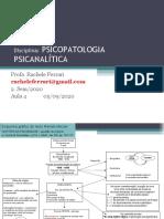3 PSICOPATOLOGIA PSICANALÍTICA AULA  05set20